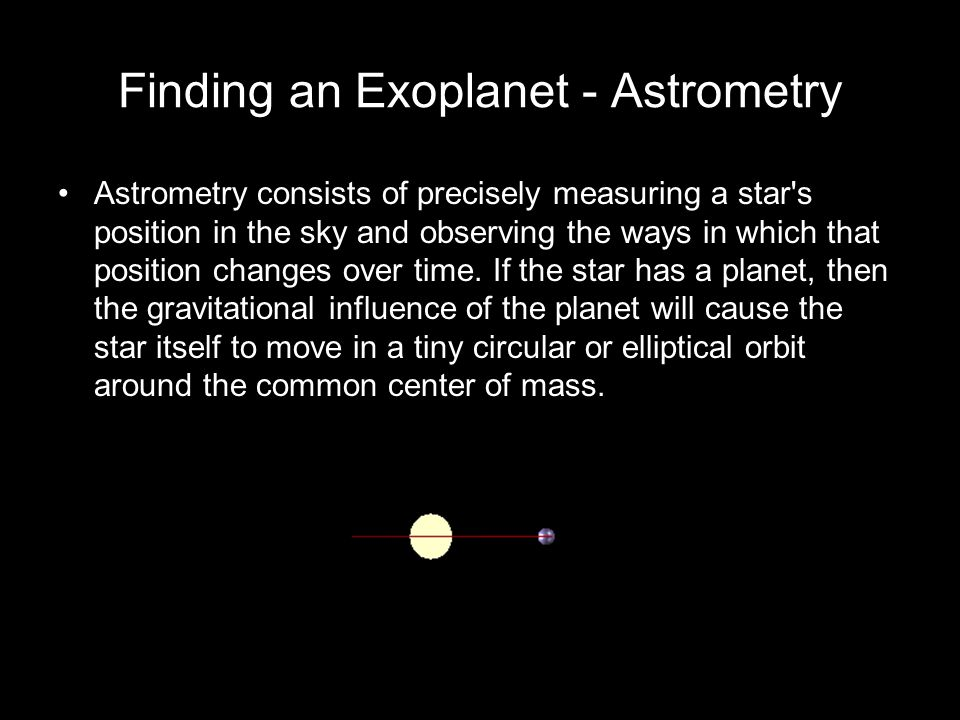 Finding an Exoplanet - Astrometry