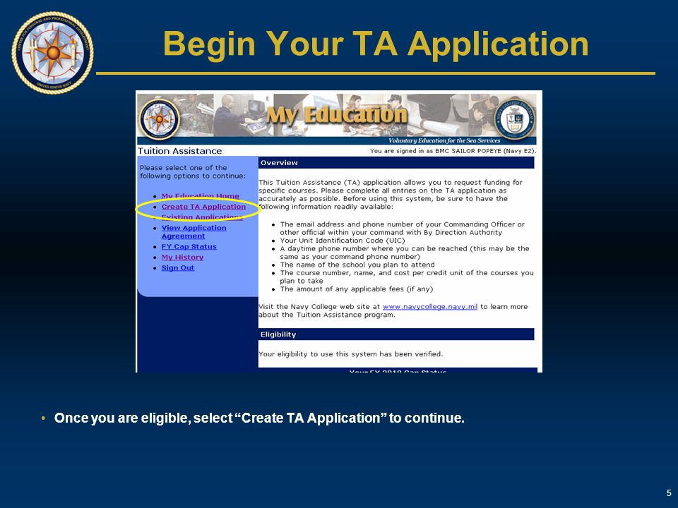 Begin Your TA Application