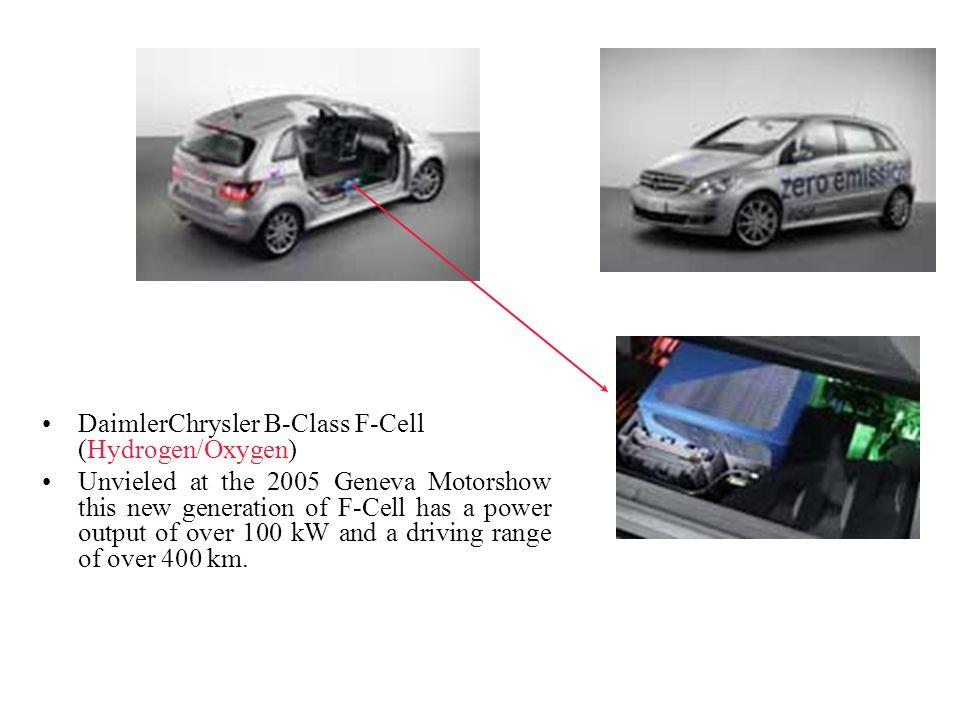 DaimlerChrysler B-Class F-Cell (Hydrogen/Oxygen)