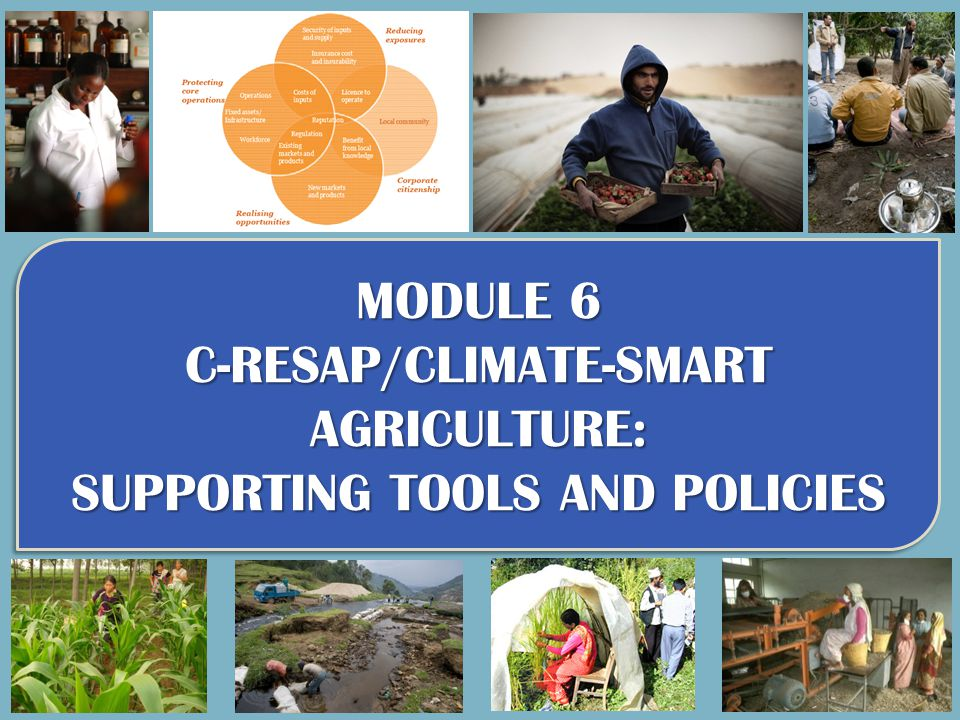 C-RESAP/CLIMATE-SMART AGRICULTURE: SUPPORTING TOOLS AND POLICIES