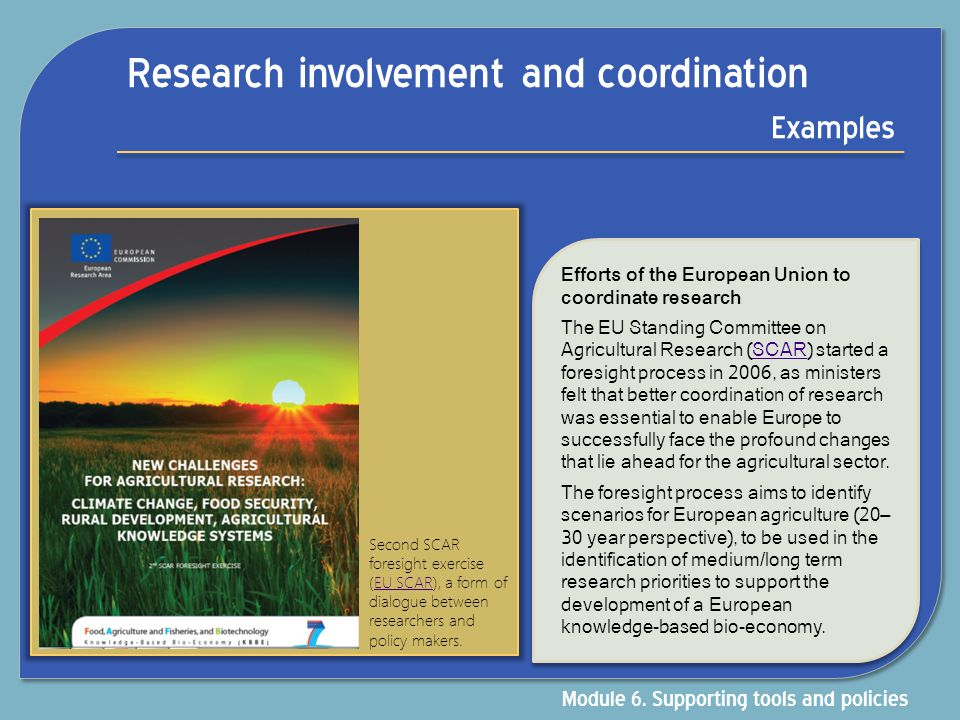 Research involvement and coordination