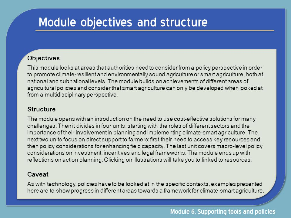 Module objectives and structure