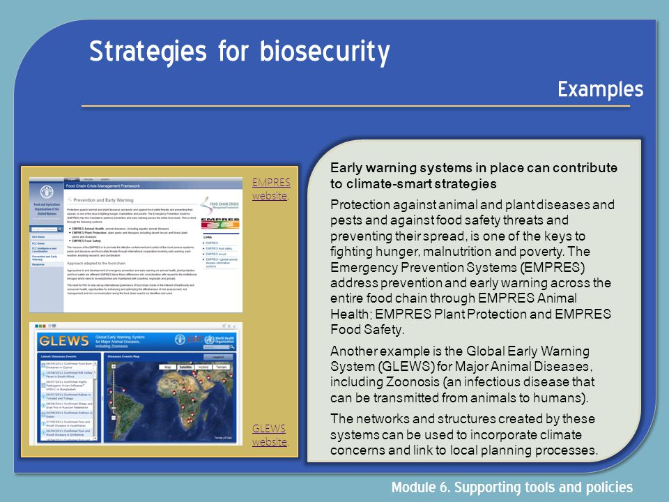 Strategies for biosecurity