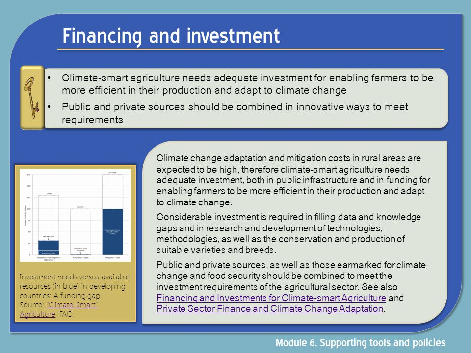 Financing and investment