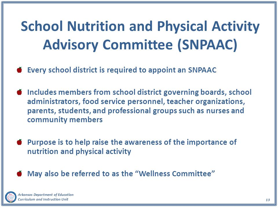 School Nutrition and Physical Activity Advisory Committee (SNPAAC)