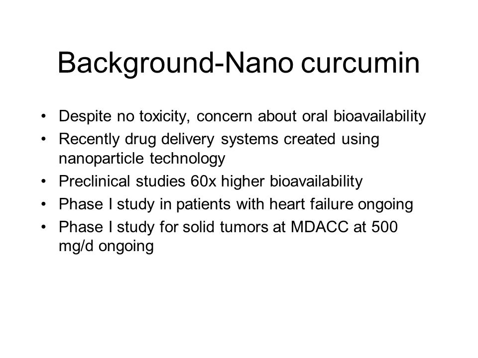 Background-Nano curcumin