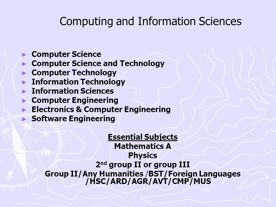 Computing and Information Sciences