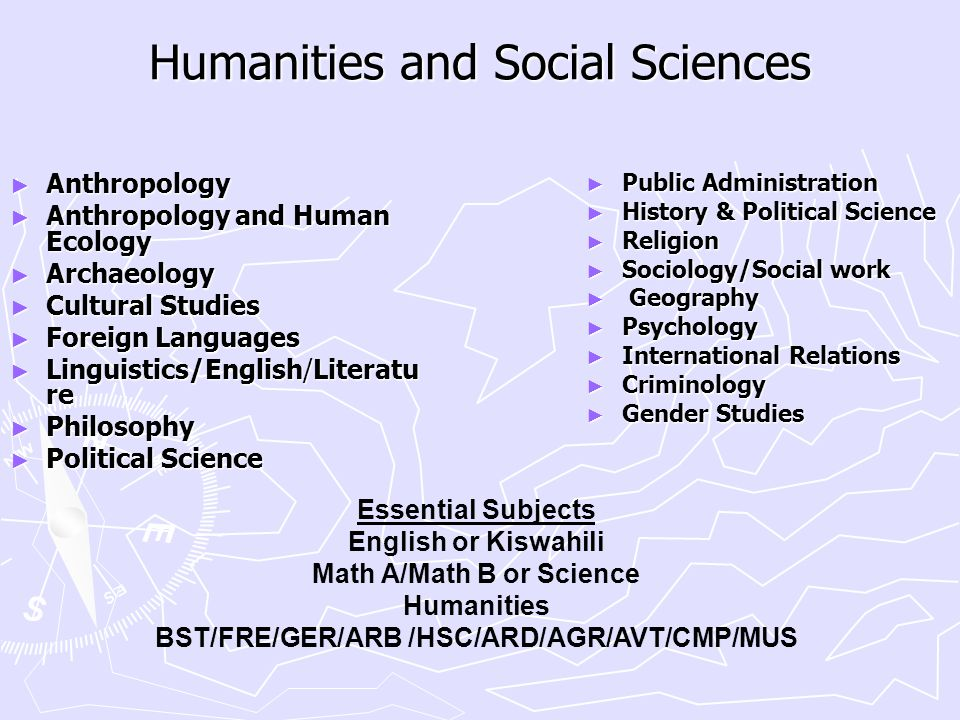 Humanities and Social Sciences