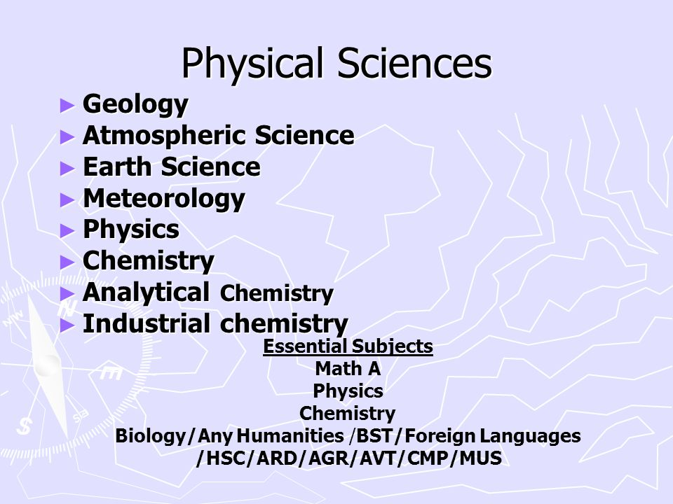 Biology/Any Humanities /BST/Foreign Languages /HSC/ARD/AGR/AVT/CMP/MUS