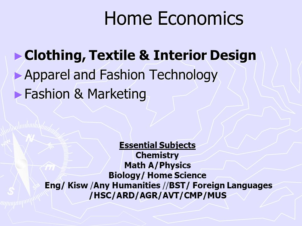 Home Economics Clothing, Textile & Interior Design