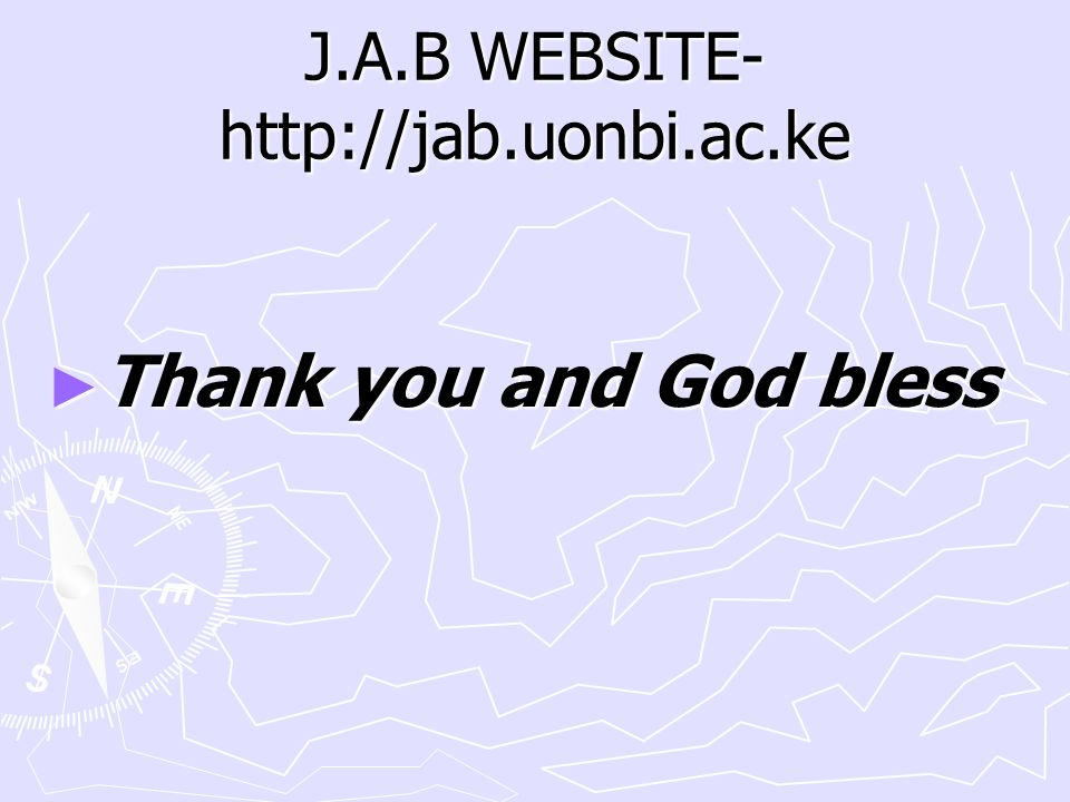 J.A.B WEBSITE-http://jab.uonbi.ac.ke