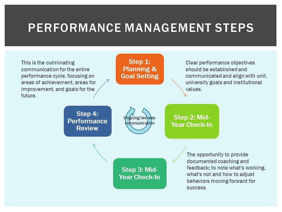 Performance Management Steps