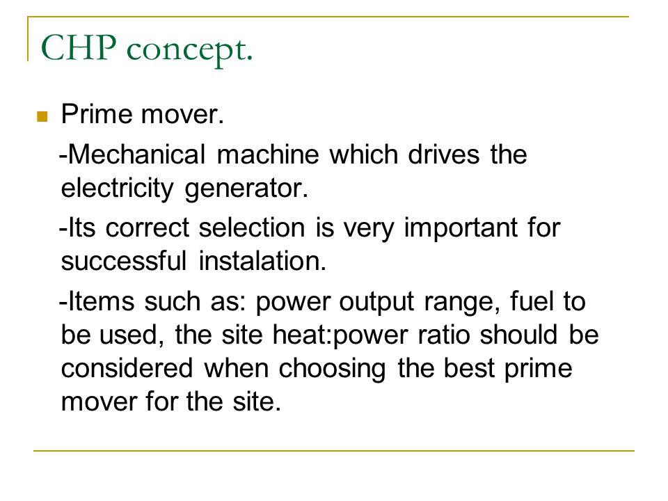 CHP concept. Prime mover.