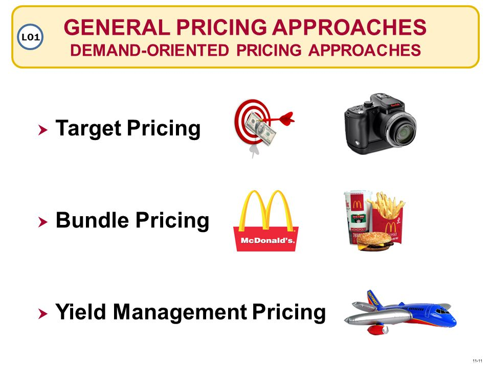 GENERAL PRICING APPROACHES DEMAND-ORIENTED PRICING APPROACHES