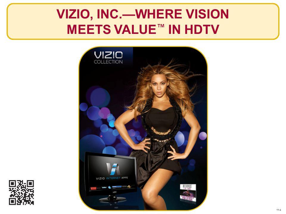 VIZIO, INC.—WHERE VISION MEETS VALUE™ IN HDTV