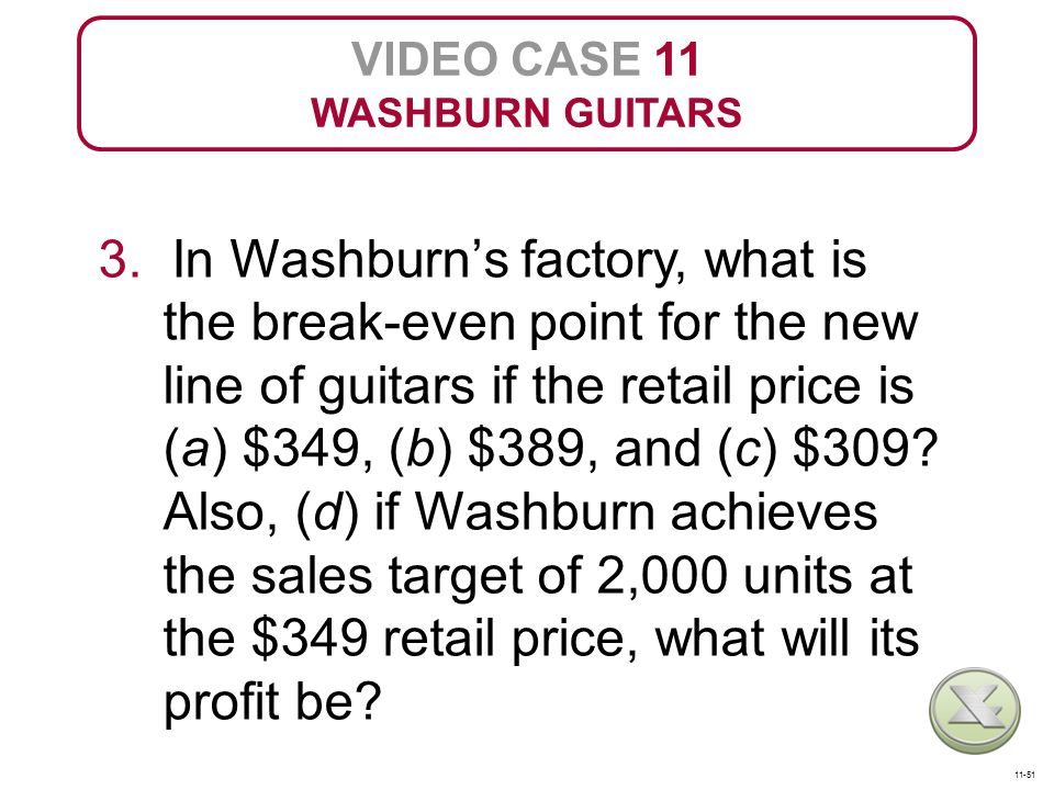 VIDEO CASE 11 WASHBURN GUITARS.