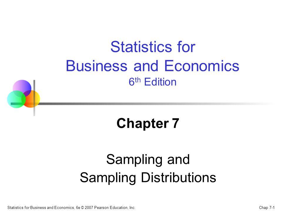 Chapter 7 Sampling and Sampling Distributions