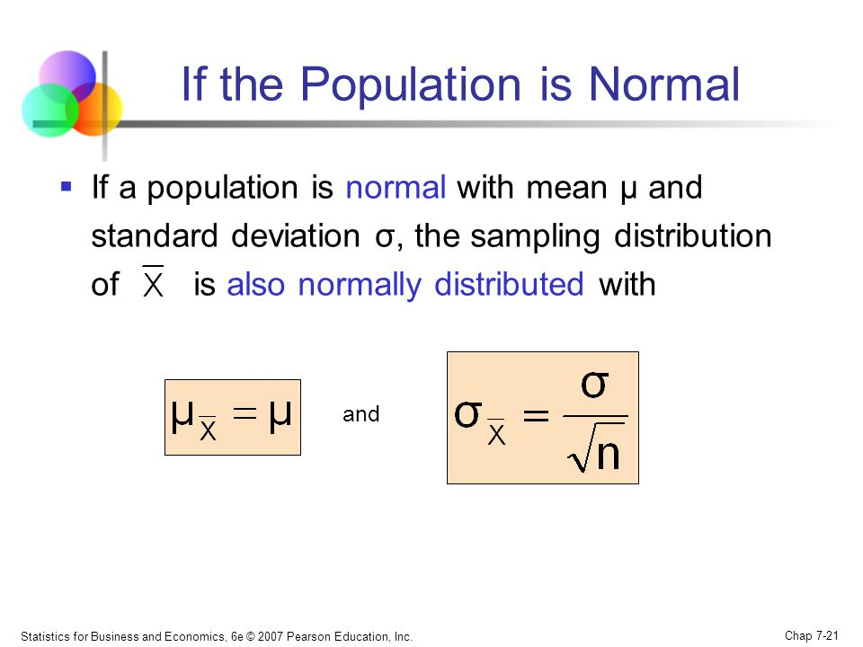 If the Population is Normal