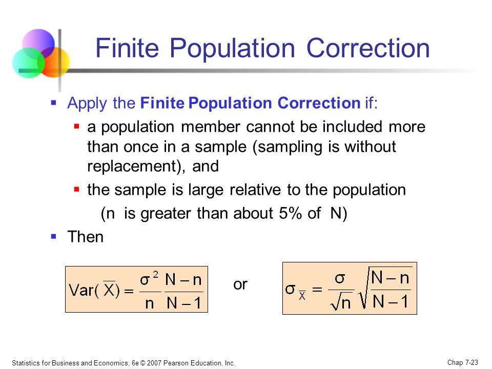 Finite Population Correction