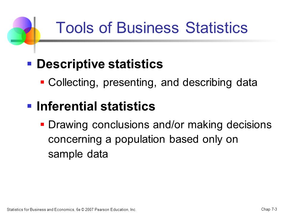 Tools of Business Statistics