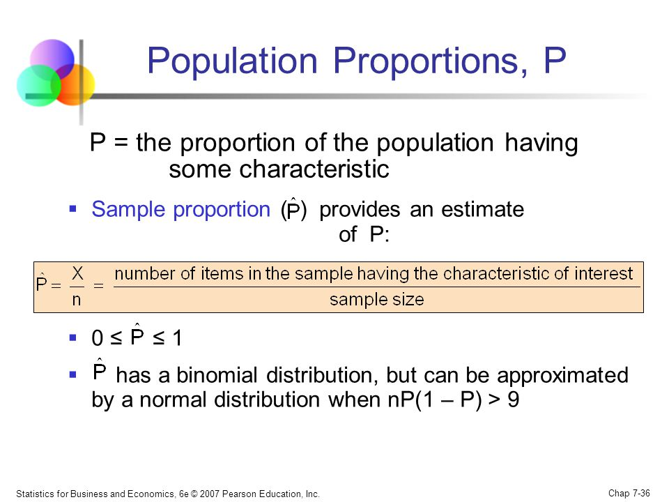Population Proportions, P
