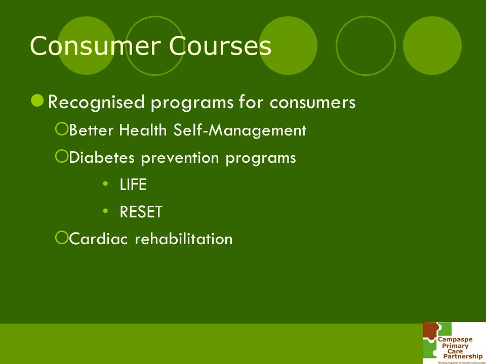 Consumer Courses Recognised programs for consumers