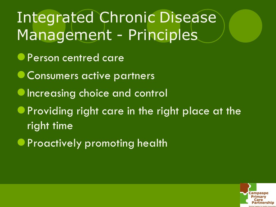 Integrated Chronic Disease Management - Principles