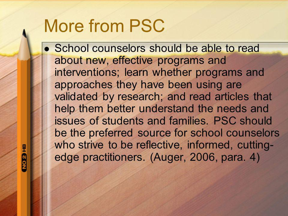 More from PSC