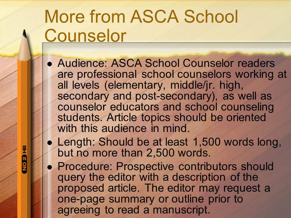 More from ASCA School Counselor