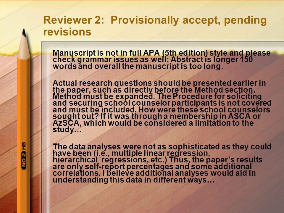 Reviewer 2: Provisionally accept, pending revisions