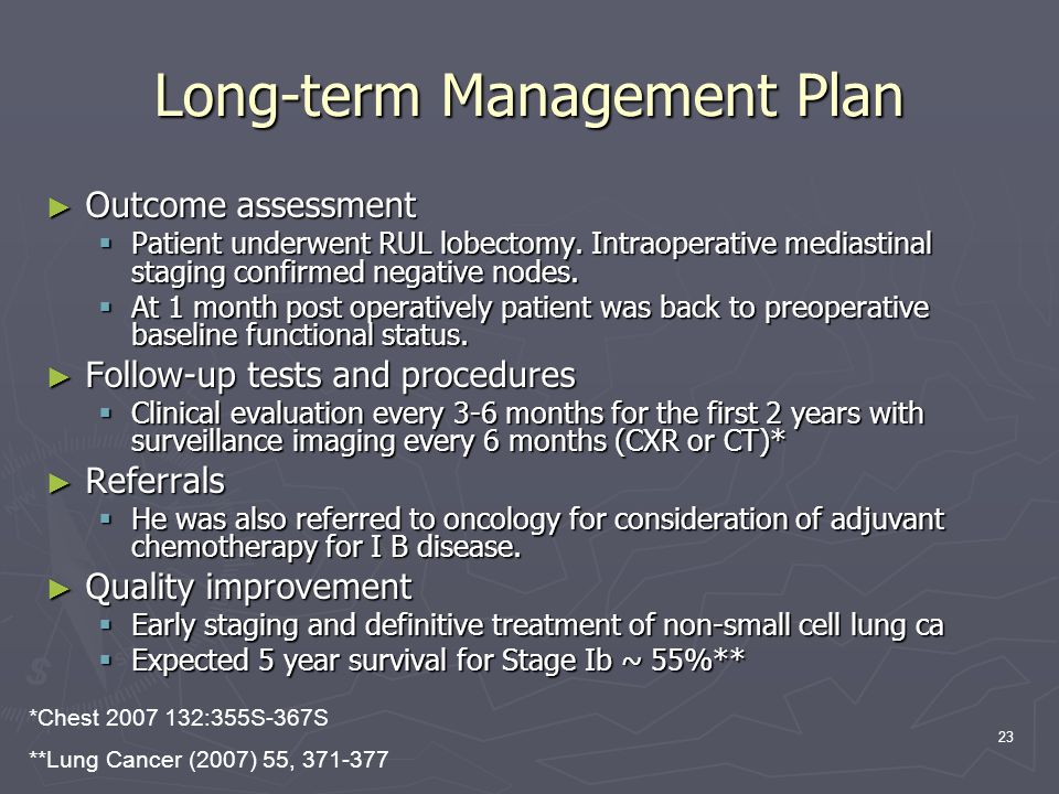 Long-term Management Plan