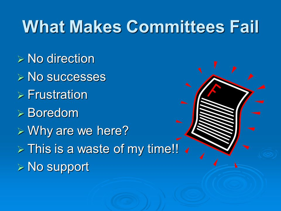What Makes Committees Fail