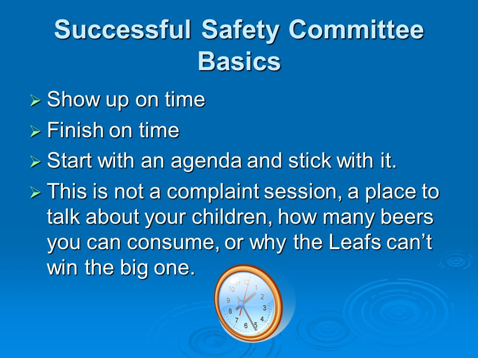 Successful Safety Committee Basics