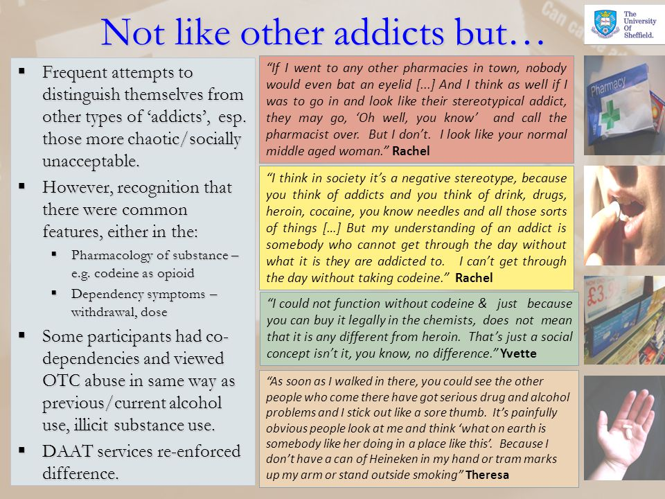 Not like other addicts but…