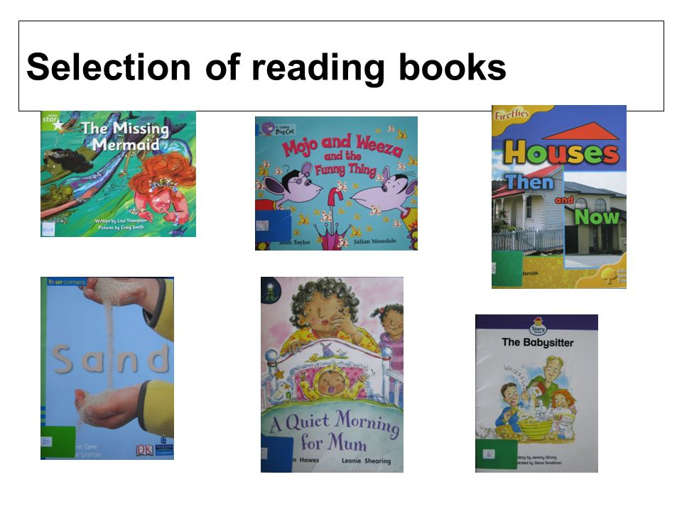 Selection of reading books