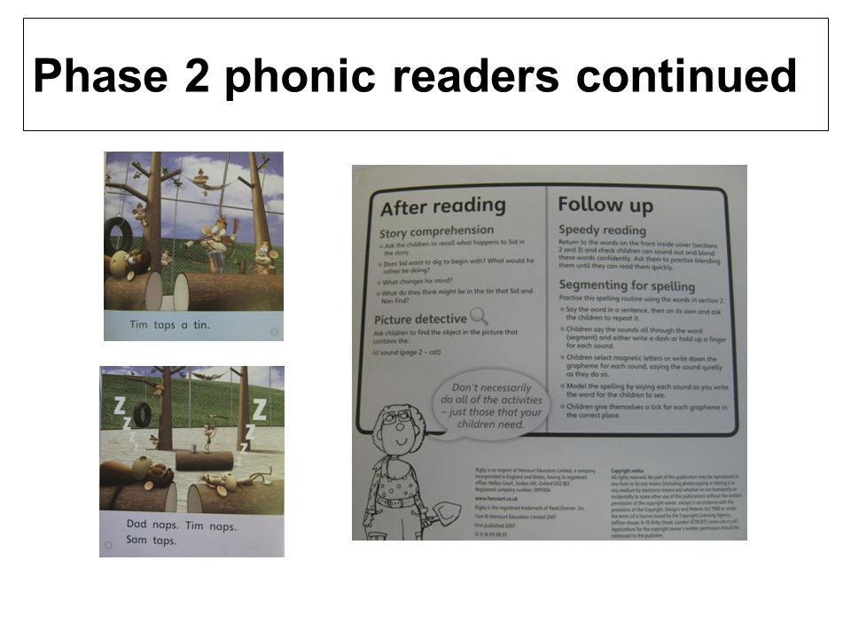 Phase 2 phonic readers continued