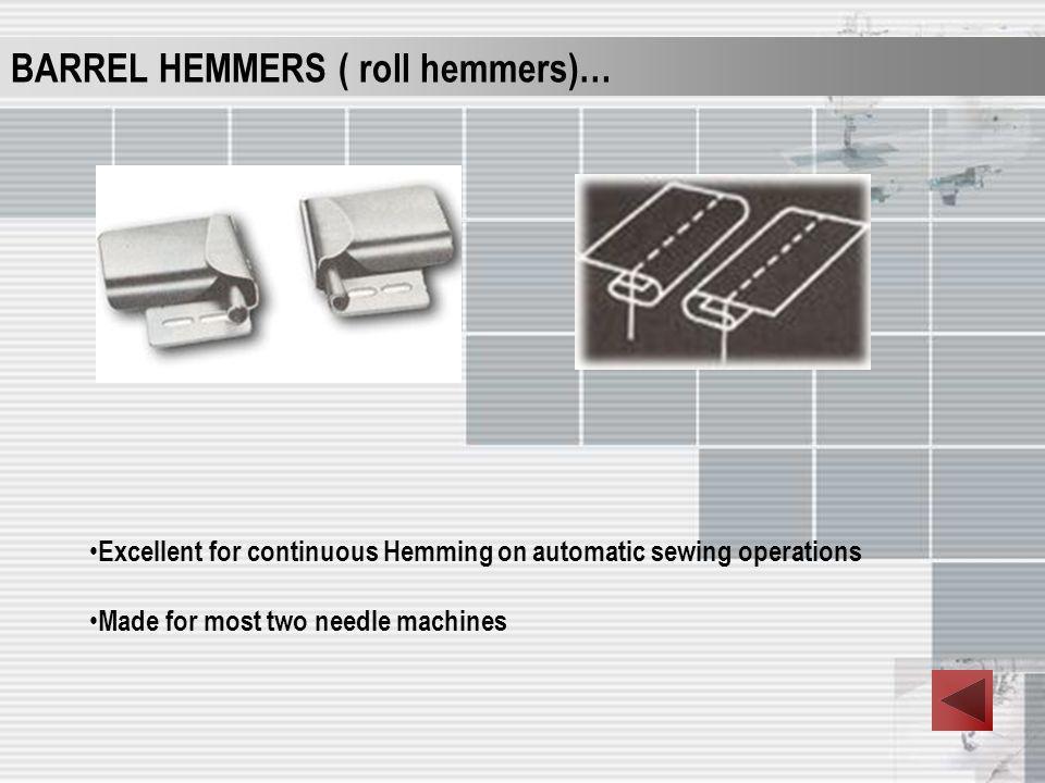 BARREL HEMMERS ( roll hemmers)…
