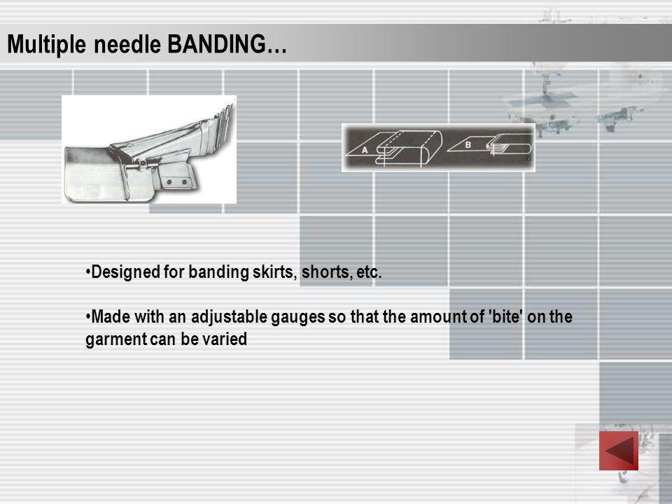 Multiple needle BANDING…
