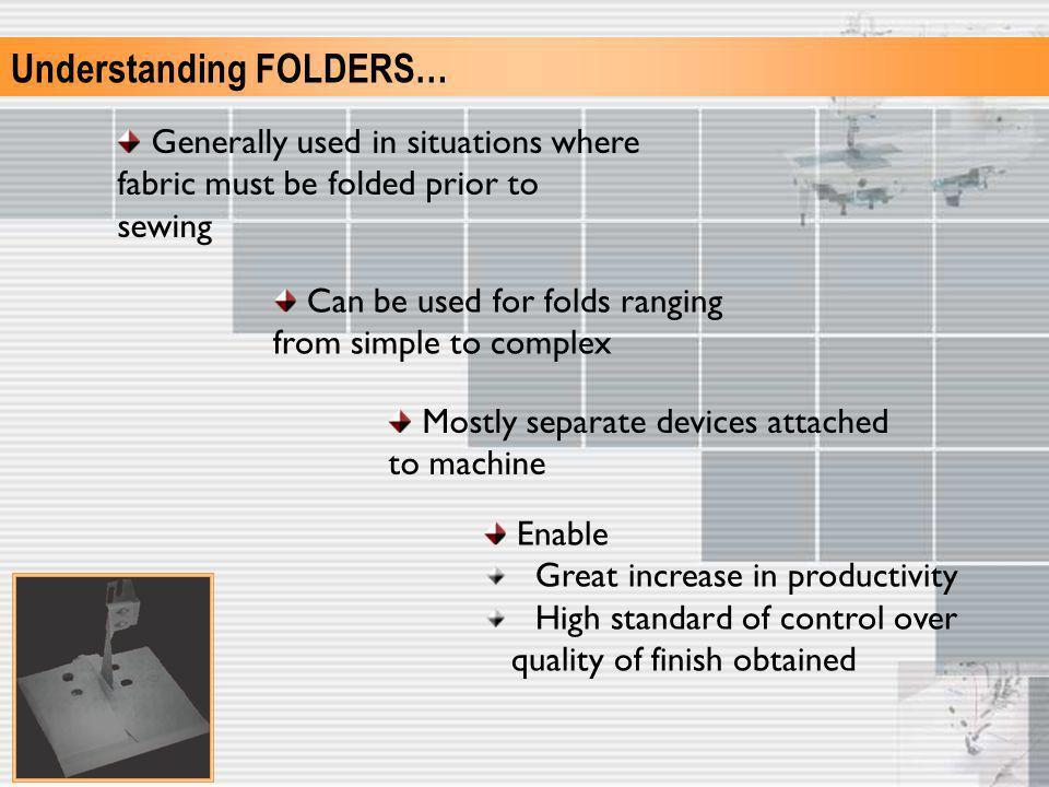 Understanding FOLDERS…