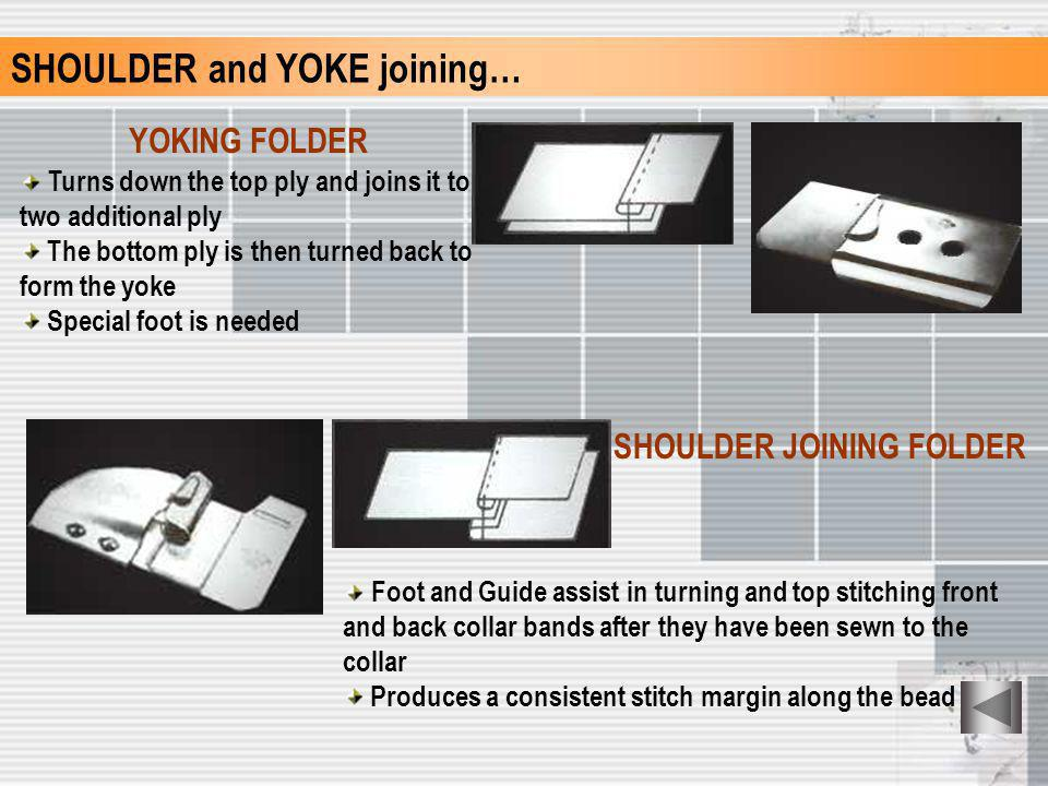 SHOULDER and YOKE joining…