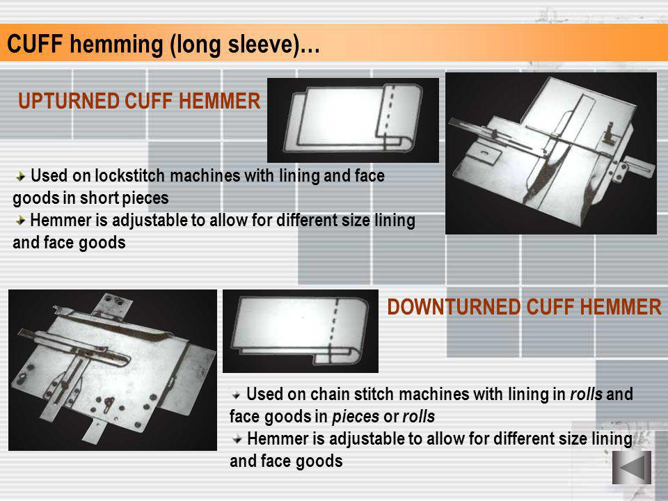 CUFF hemming (long sleeve)…