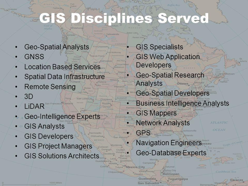 GIS Disciplines Served