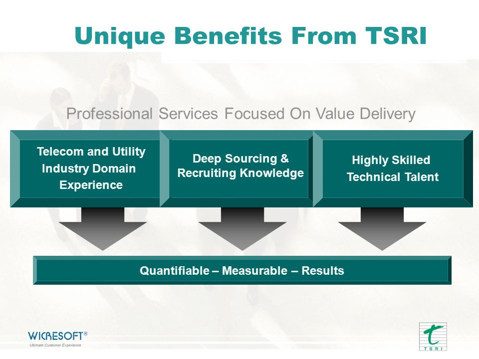 Unique Benefits From TSRI