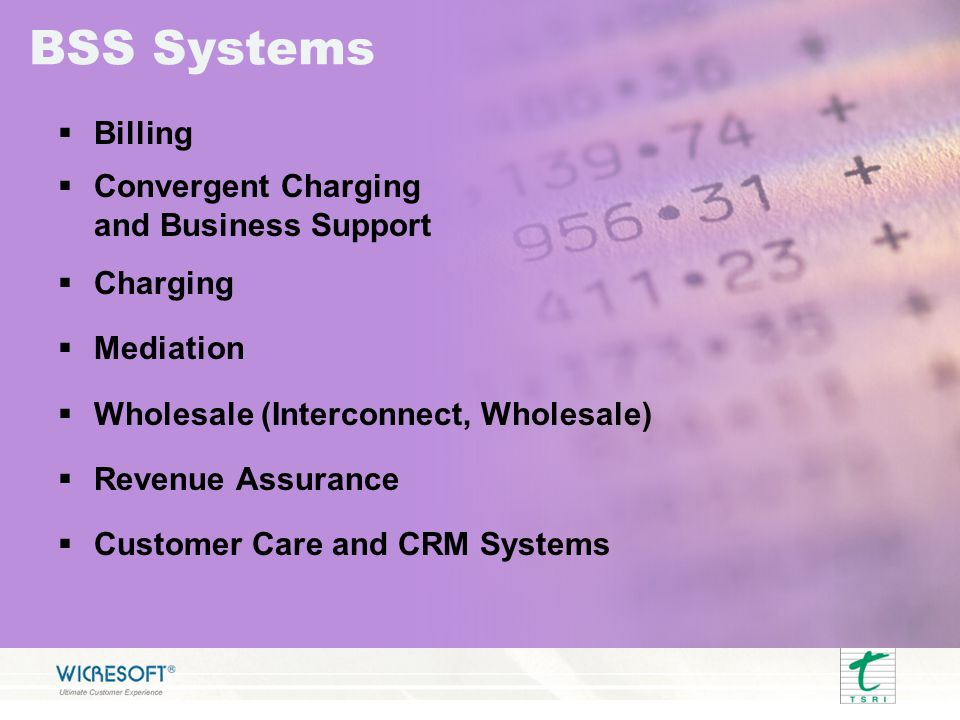 BSS Systems Billing Convergent Charging and Business Support Charging