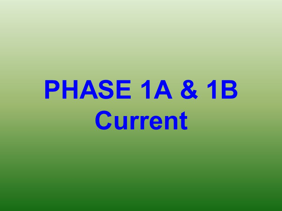 PHASE 1A & 1B Current