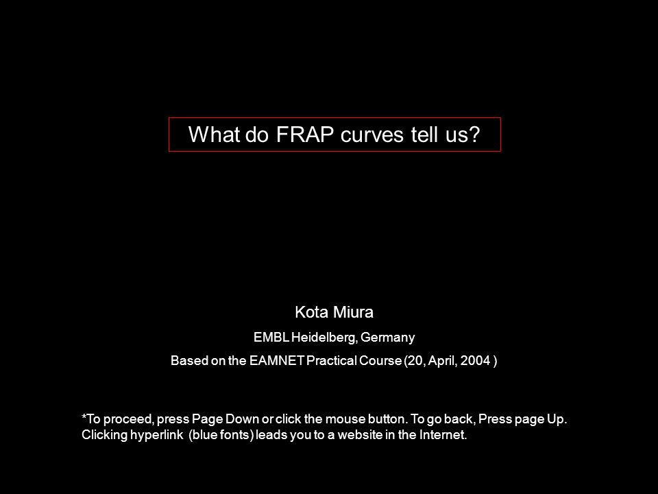 What do FRAP curves tell us