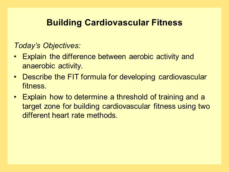 Building Cardiovascular Fitness