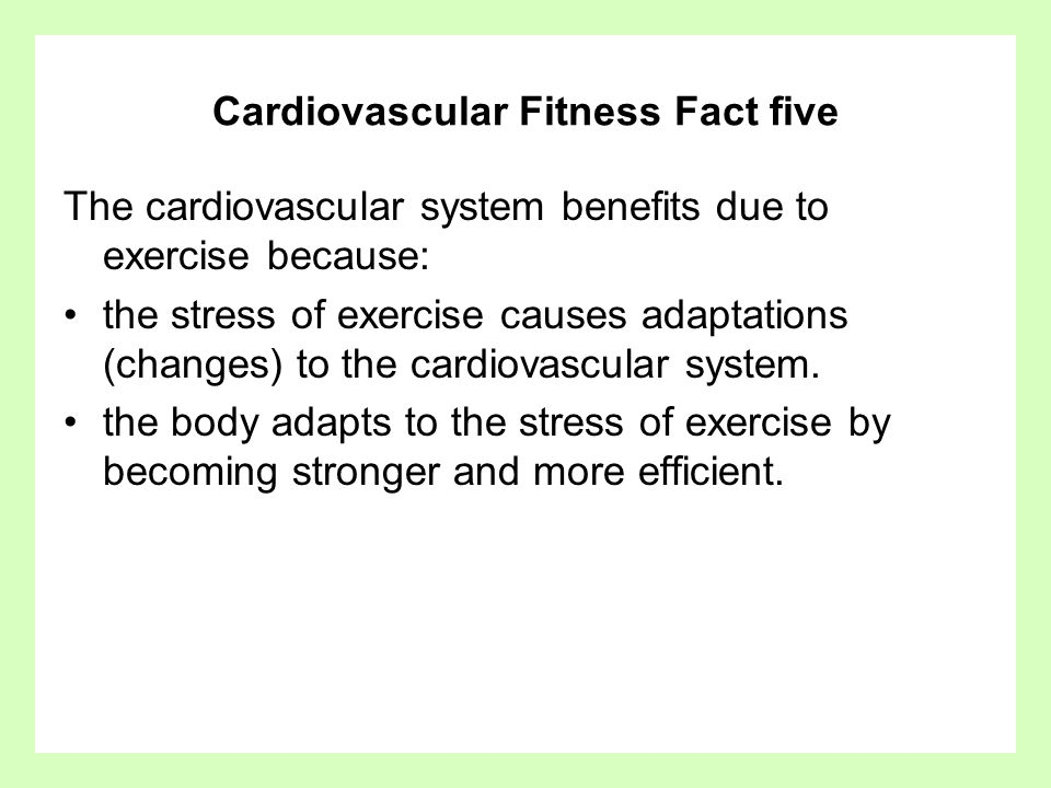 Cardiovascular Fitness Fact five