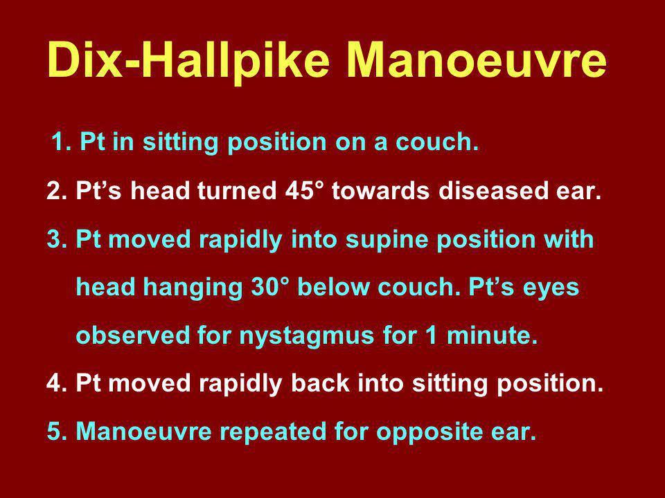Dix-Hallpike Manoeuvre