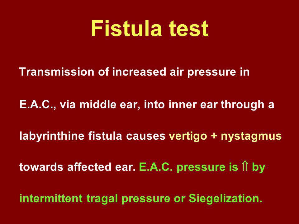 Fistula test
